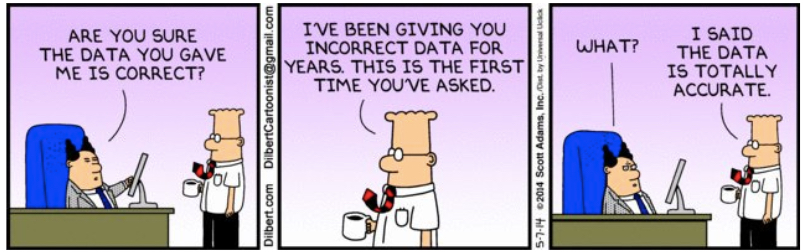 Dilbert Analytics Joke